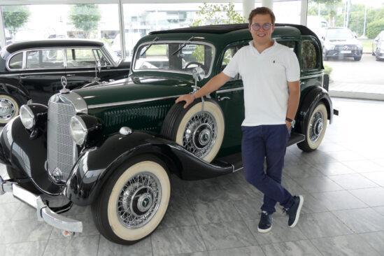 Automobilkaufmann Moritz Arenswald ist auch Betriebswirt im Kfz-Gewerbe und möchte gern Filialleiter der Auto Peter Gruppe werden. (Foto: )