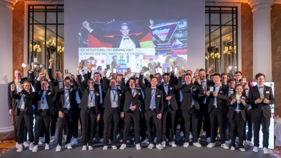 Am Abend wurden alle Champions der WorldSkills Kasan 2019 noch einmal gebührend gefeiert. Foto: Frank Erpinar