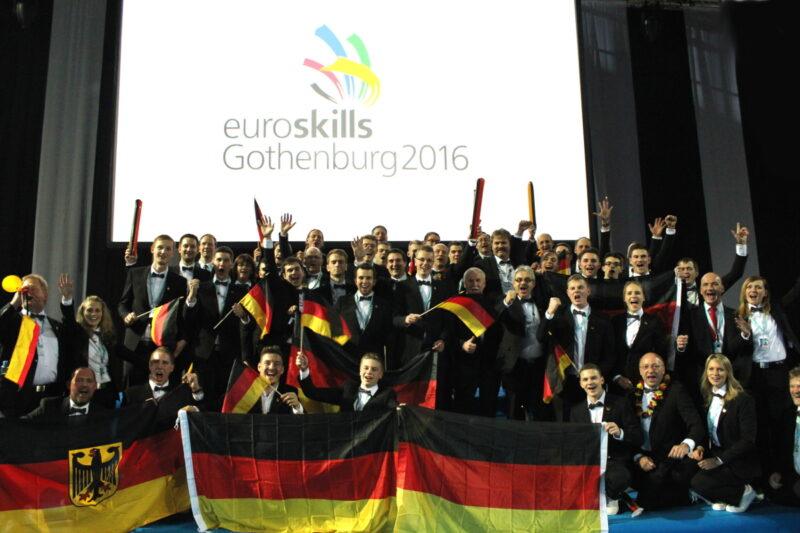 Team Germany bei der Eröffnungszeremonie der 5. EM der Berufe - WorldSkills Germany